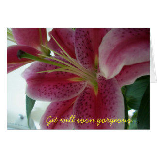 Get well soon gorgeous... card