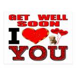 Get Well Soon I Love You Postcard