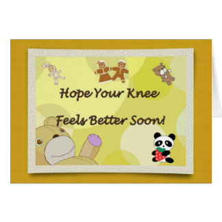 Get Well Soon Knee Surgery Teddy Bear Card