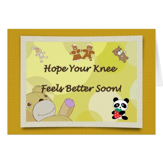 Get Well Soon Knee Surgery Teddy Bear Card