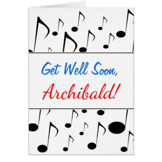 """""""Get Well Soon"""" + Many Musical Notes Pattern"""