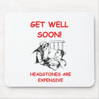 get well soon mouse mat