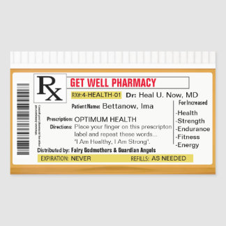 Get Well Soon Rectangular Sticker