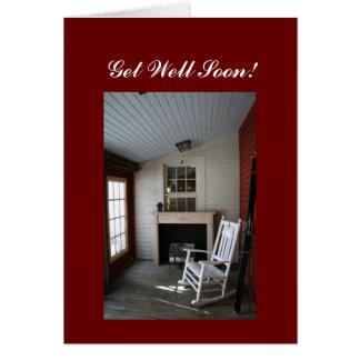 Get well soon!  rocking chair card