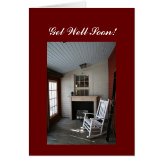 Get well soon!  rocking chair greeting card