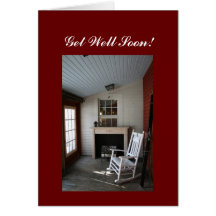 Get well soon!  rocking chair greeting cards