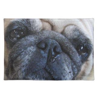 Get Well Soon Sick Pug Dog Place Mat