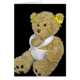 Get well soon teddy bear card