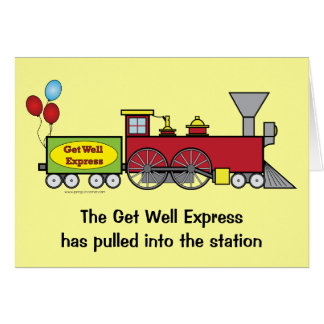 Get Well Soon Train Card