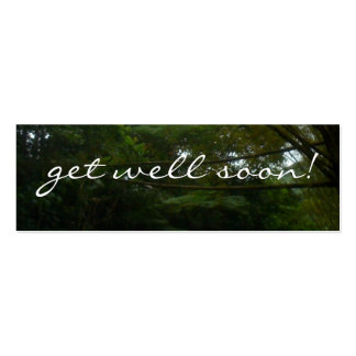 Get Well Soon Tropical Rainforest Trees Pack Of Skinny Business Cards