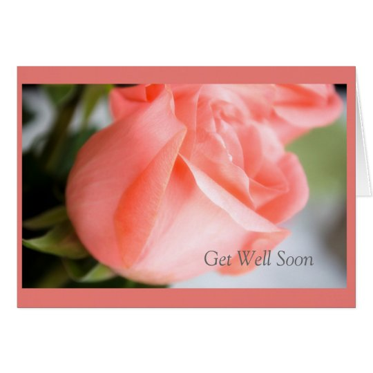Get Well Soon with Rose Design Card