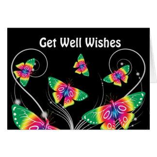 Get Well Wishes Butterflies Card