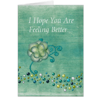 Get Well Wishes Teal Cards