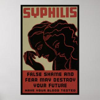Get Your Blood Test 1938 WPA Vintage Poster