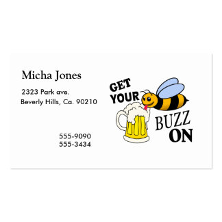 Get Your Buzz On Pack Of Standard Business Cards