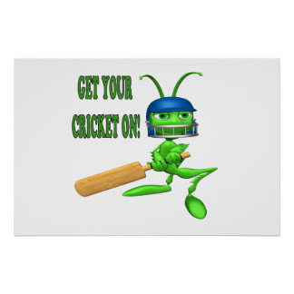 Get Your Cricket On Poster