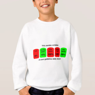 Get your daily amount of zombie goodness! sweatshirt