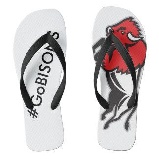 Get your EDDIE the BISON flip-flops from EDUKAN Flip Flops