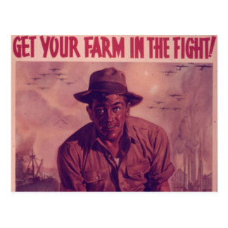Get Your Farm in the Fight - Vintage Postcard