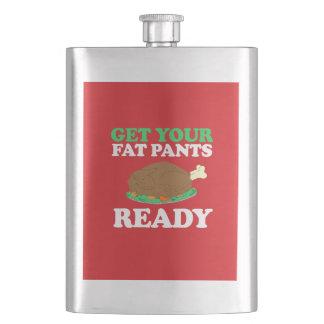 Get your fat pants ready hip flasks