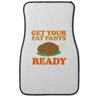 Get your fat pants ready - Holiday Humor Car Mat