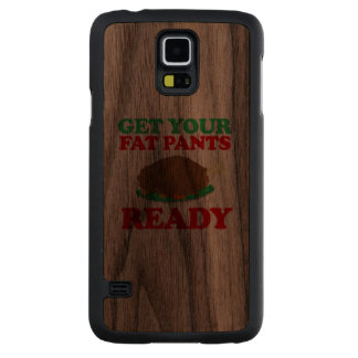 Get your fat pants ready -- Holiday Humor Walnut Galaxy S5 Slim Case