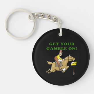 Get Your Gamble On Double-Sided Round Acrylic Key Ring
