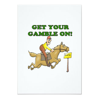 Get Your Gamble On 13 Cm X 18 Cm Invitation Card