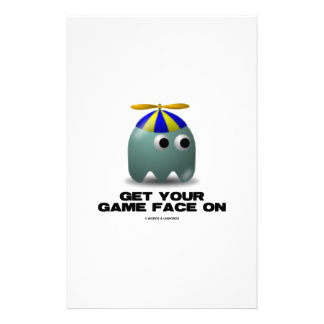 Get Your Game Face On Geek Personalized Stationery