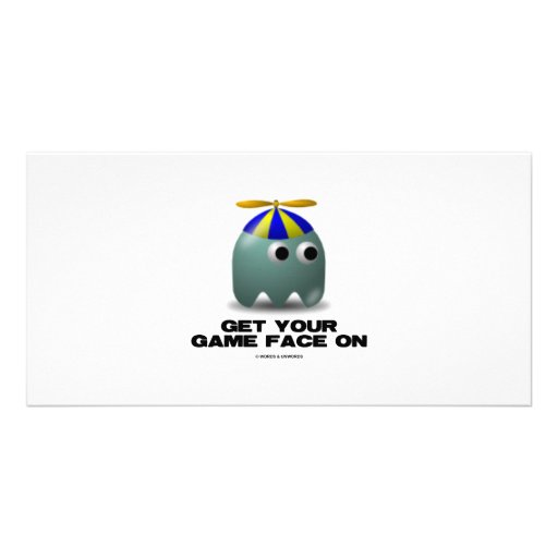 Get Your Game Face On Geek Photo Greeting Card