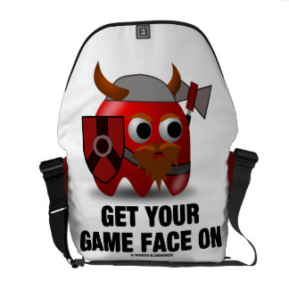 Get Your Game Face On (Viking with Shield Hatchet) Commuter Bags