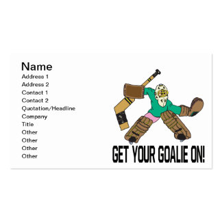 Get Your Goalie On Business Card Templates