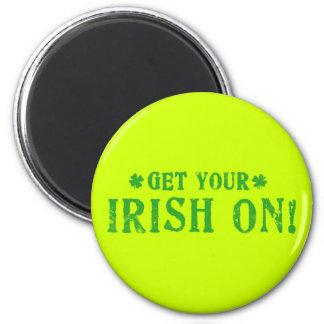 Get Your Irish On 6 Cm Round Magnet