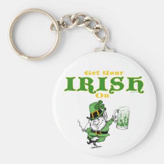 Get Your Irish On Leprechaun Keychain
