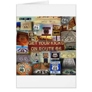 Get your Kicks on Route 66 Card