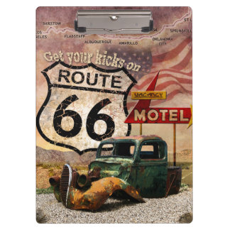 Get your Kicks on Route 66 Clipboard