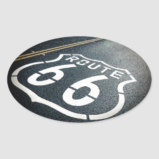Get Your Kicks On Route 66 Oval Sticker