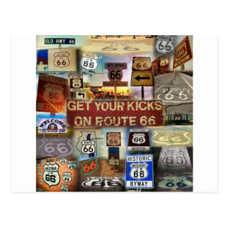 Get your Kicks on Route 66 Postcard