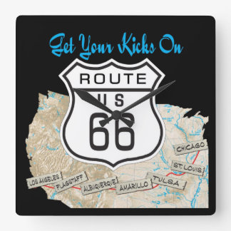 Get your kicks on rt 66 clock