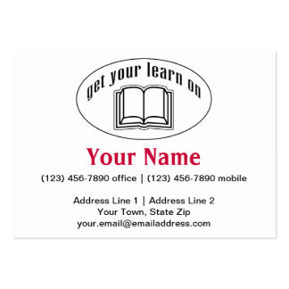 Get Your Learn On Business Card Template