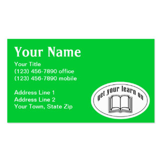 Get Your Learn On Pack Of Standard Business Cards