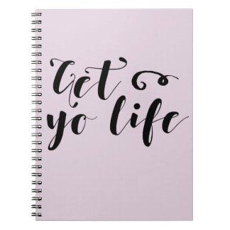 Get Your Life Typography Notebooks