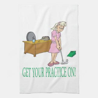 Get Your Practice On Tea Towel