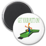 Get Your Putt On 6 Cm Round Magnet