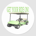 Get Your Ride On Round Stickers
