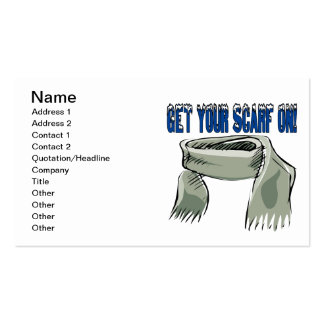 Get Your Scarf On Double-Sided Standard Business Cards (Pack Of 100)