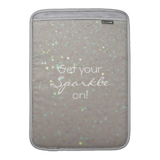 Get your Sparkle on - faux glitter & sparkles Sleeve For MacBook Air
