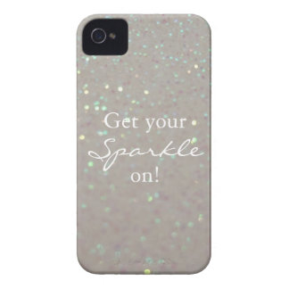 Get your Sparkle on fun faux glitter iphone 4 case
