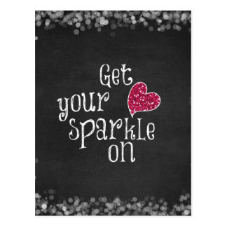 Get your sparkle on Quote Postcard