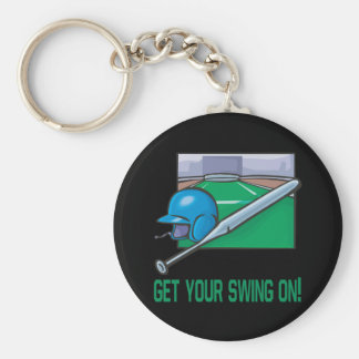 Get Your Swing On Basic Round Button Key Ring